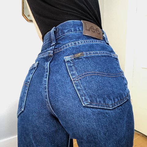 """e3be3f969c89 Amazing pair of Vintage Lee Riders high waisted """"mom jeans"""" - Depop"""