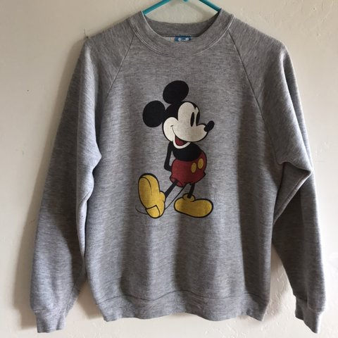 11c48f95 Vintage Disney's Mickey Mouse crew neck raglan sweat shirt. - Depop