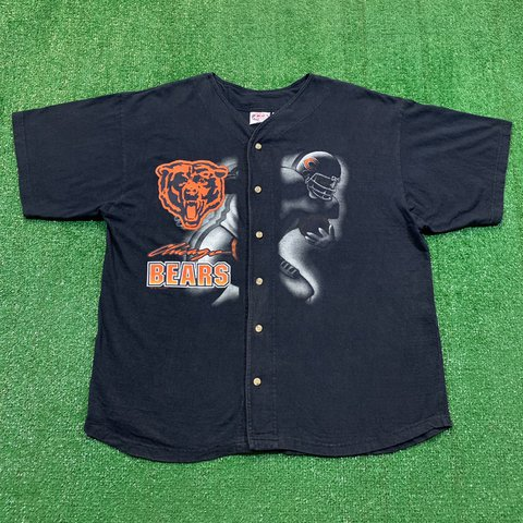 a3b752f3 @crookedstiks. in 3 hours. Gulfport, United States. Vintage 99s Chicago  Bears NFL Baseball Jersey Shirt Rare.