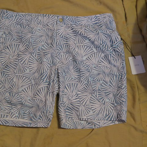 258d736933f5d @lavacloset. 1 hour ago. Austell, United States. Item: ONIA Calder Trunks  7.5 Size 38 Blue White Abstract Fan ...