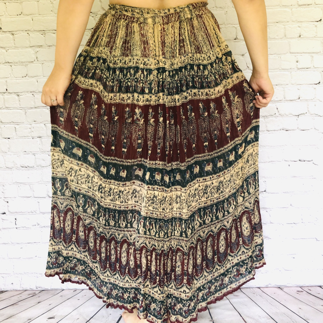 Product Image 1 - Vintage bohemian skirt with draw