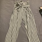 20350ac89134b checkered side stripe pants brand : unknown (might be shein - Depop