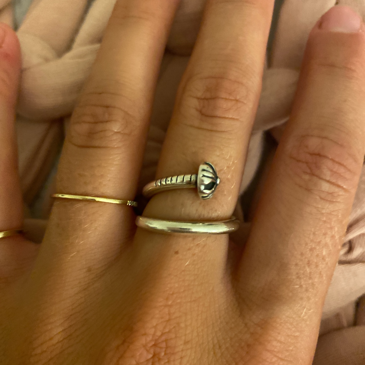 Product Image 1 - Chrome hearts nail ring. Bought