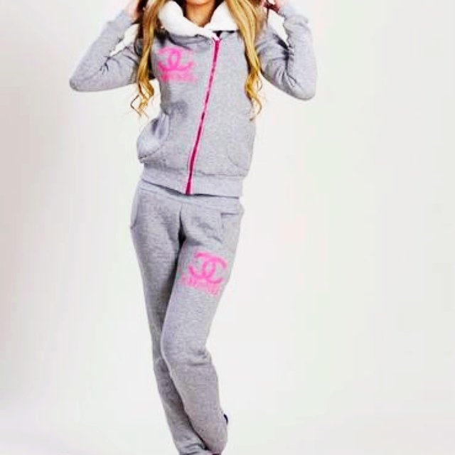 chanel tracksuit. grey chanel tracksuit sizes 8-12 free postage within the uk on the hunt chanel tracksuit r