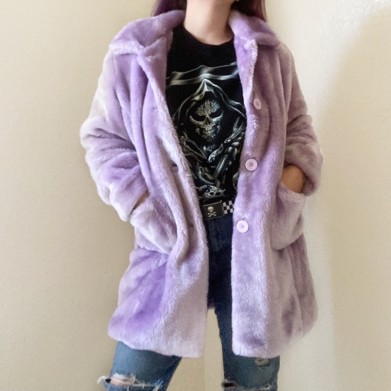 Product Image 1 - Marcelle Renee Purple Coat  Fuzzy lilac