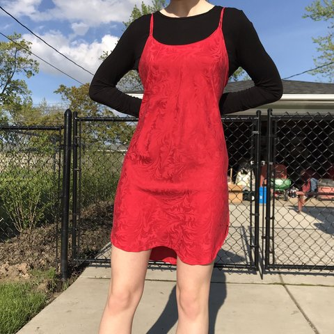 a6be19456363 AMAZING PURE SILK SLIP DRESS In love with this Red Slip by a - Depop