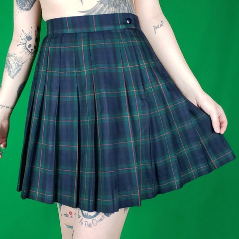 6a0f4af30c Classic School Girl Pleated Skirt Vintage Kilt Skirt by in a - Depop