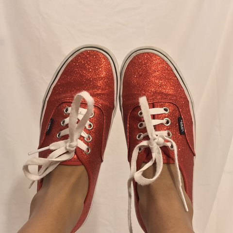 6fb47161eb2a Used vintage Dorothy red sparkly Fall 2010 Vans No tears or - Depop