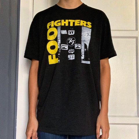 643ec2d0c HBO Foo Fighters T-Shirt. Labeled a size Large. Can fit is a - Depop