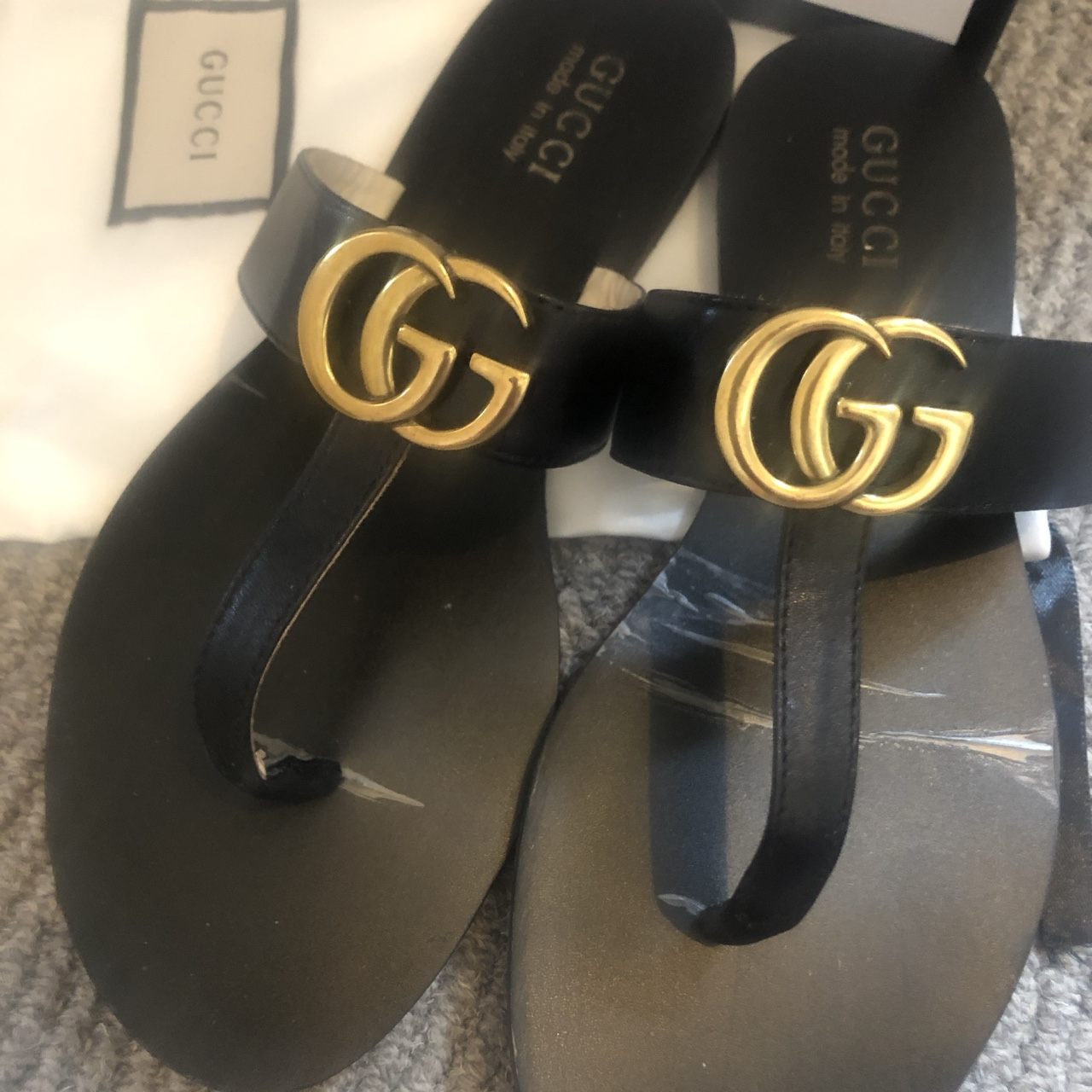 3fab17e9f Gucci thong sandal with gold