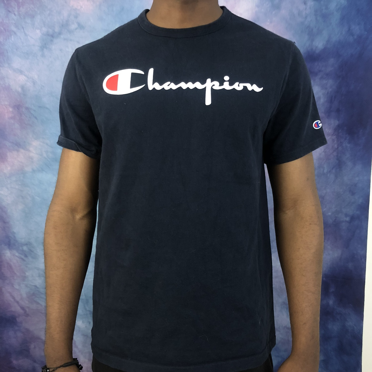 Product Image 1 - Navy blue Champions shirt in