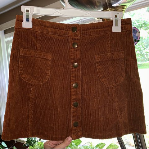 b79e25025 @debbiehairy. 47 minutes ago. Salem, United States. Brandy Melville brown corduroy  mini skirt, with buttons down ...