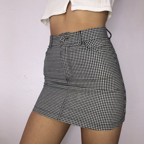 49385322c5 @emily_s_watts. last month. Lafayette, United States. Brandy Melville black  and white gingham Juliette skirt ...