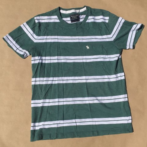 7dc25fc758 @osv6ldo. 21 hours ago. Florida, US. Abercrombie and Fitch Striped T-shirt.  Green & White Colorway. Very Soft.