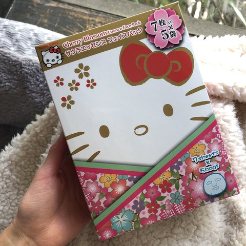 c98f2cf80 💕 Hello Kitty Cherry Blossom Essence Face Pack 💕 free BY - Depop