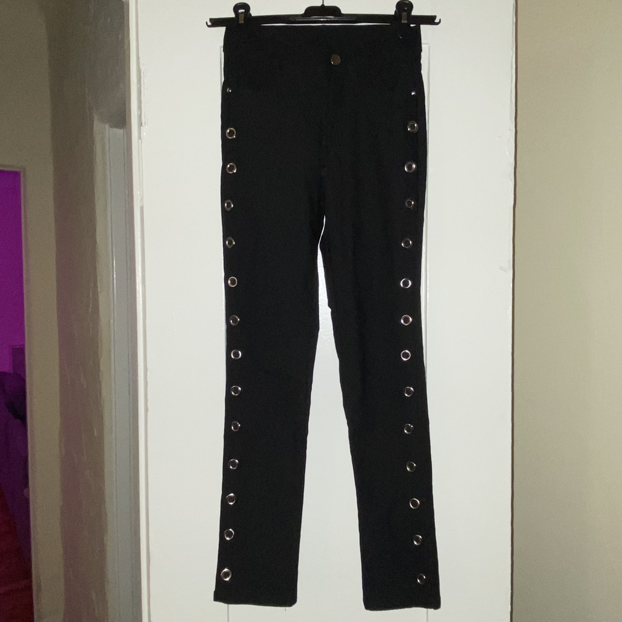 Product Image 1 - VINTAGE SKINNY PANT WITH GROMMETS -super