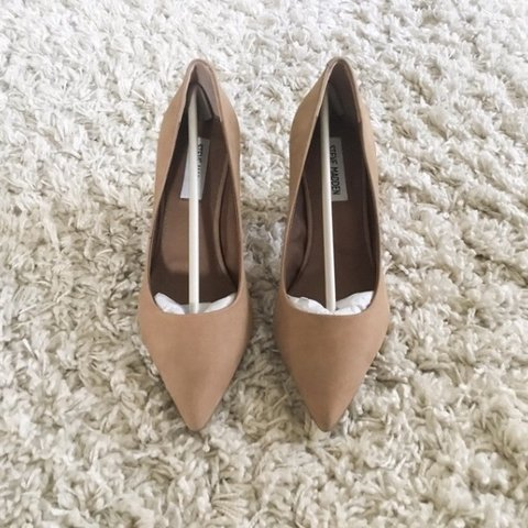 37696fbda51 Steve madden ashlyn nubuck leather block heel pump