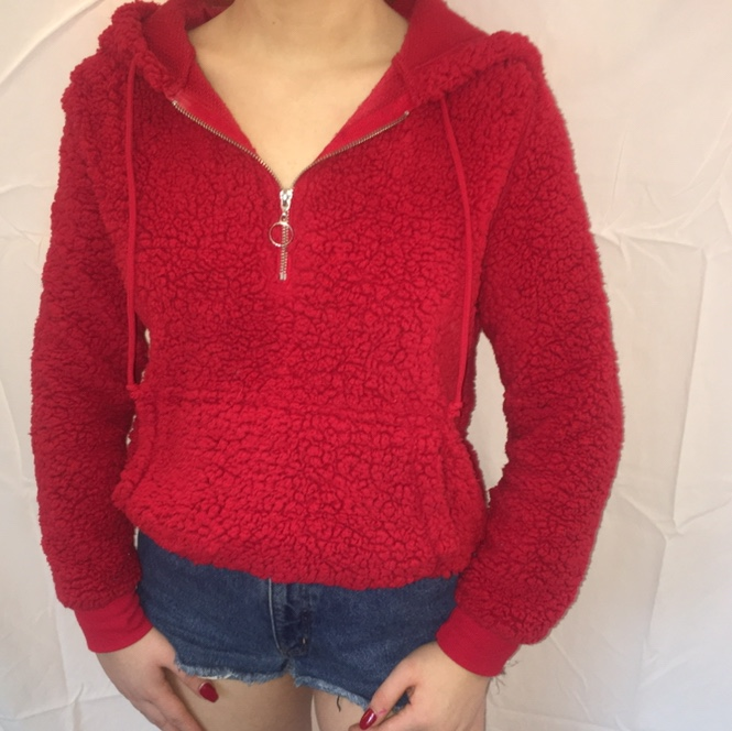 Product Image 1 - Sherpa red quarter zip with