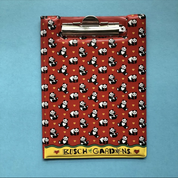 Product Image 1 - Vintage Busch Gardens Panda Clipboard!  This
