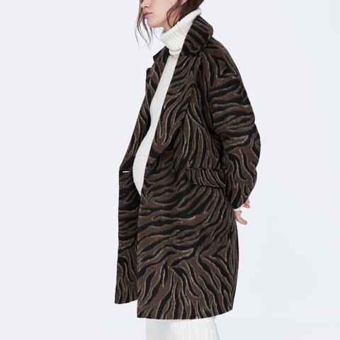 7f927062816e @rosenguild. 8 days ago. Brampton, Canada. XS Animal Print Coat from Zara  brand new with tags ...