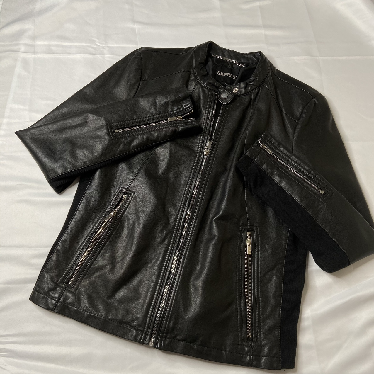 Product Image 1 - Express Faux Leather Motorcycle Jacket  -