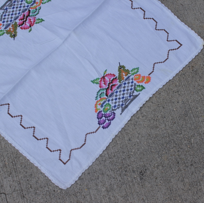 Product Image 1 - VINTAGE CROSS STITCH HAND EMBROIDERED