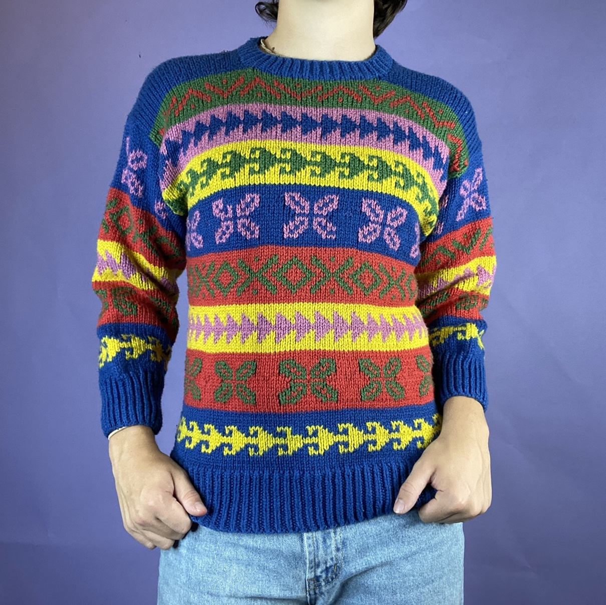 Product Image 1 - Amazing Multicolored Striped Thick Woven
