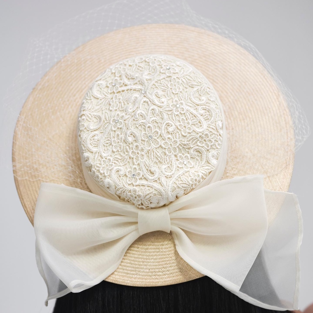 Product Image 1 - Vintage 90s Straw Hat Stoned Lace