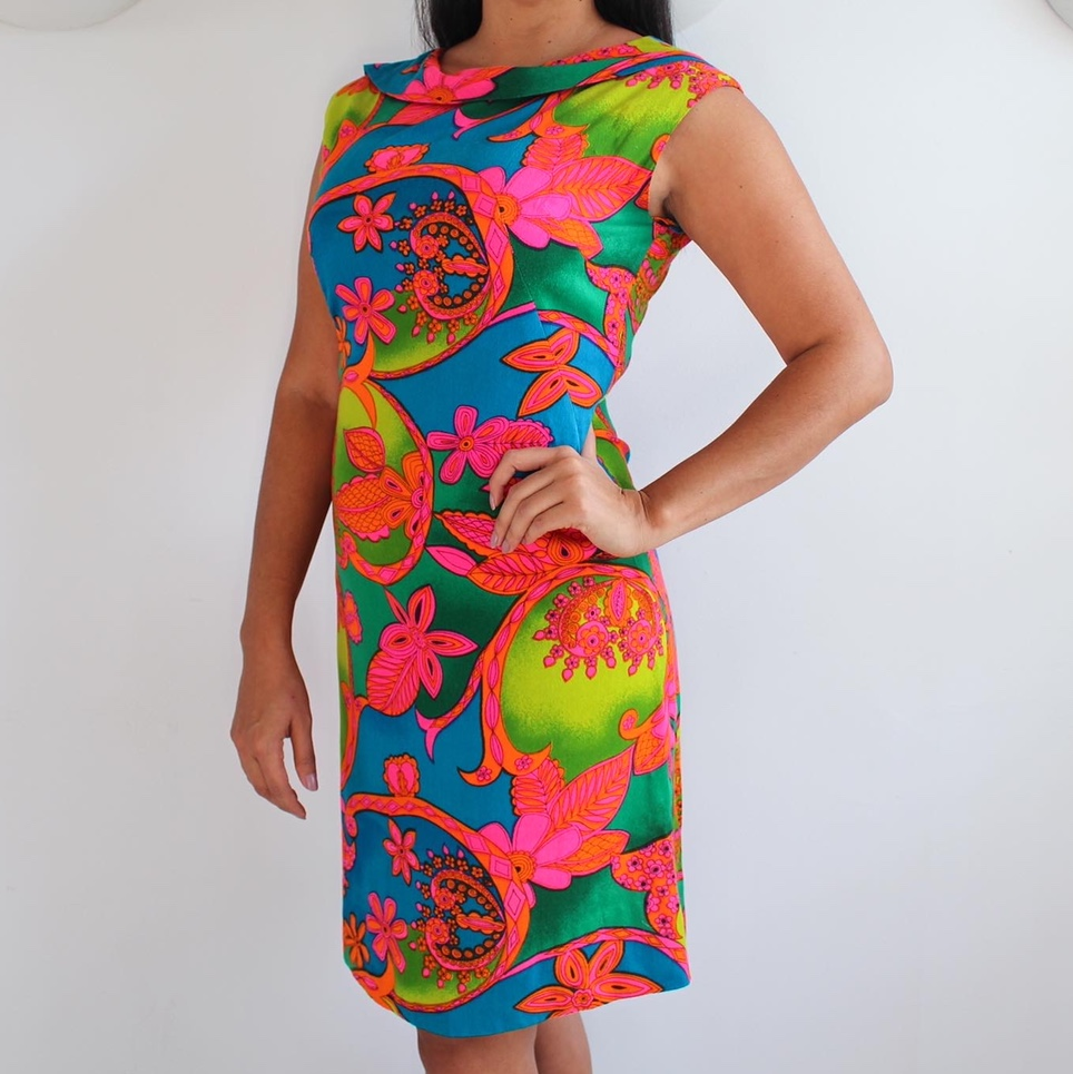 Product Image 1 - Vintage Psychedelic Shift Dress Late 60s
