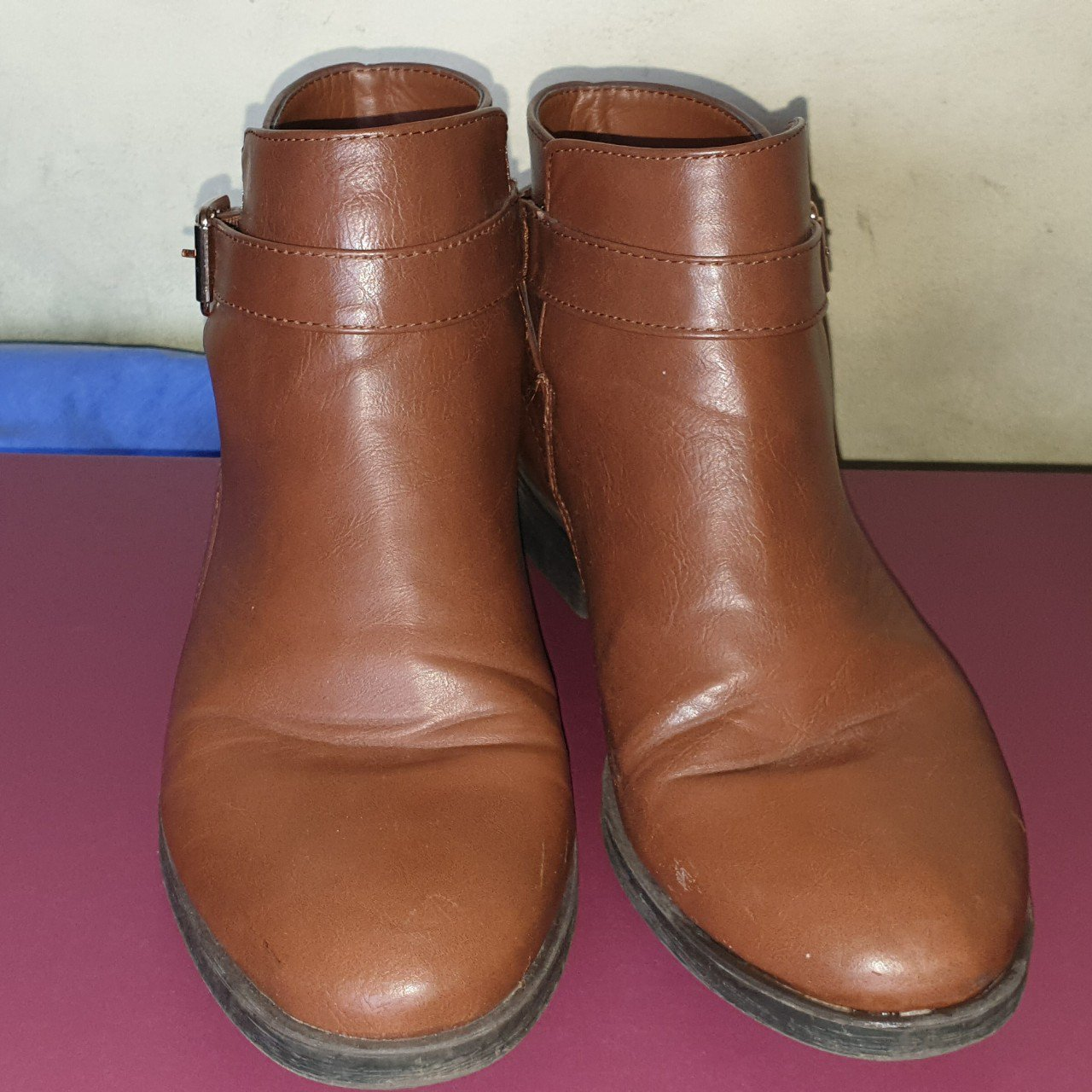 632781f2fc670 @carys203. 26 days ago. Llanelli Rural, GB. Brown/Tan coloured ankle boots