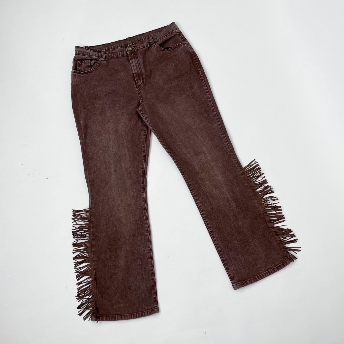 Product Image 1 - Y2K Brown Fringe Jeans   By