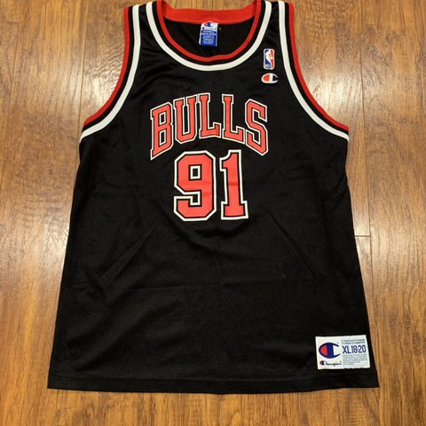 2383281d93f @sunnysideupvintage. in 22 hours. Crete, United States. Vintage Dennis Rodman  Chicago Bulls Authentic Champion NBA Jersey Size Youth XL.