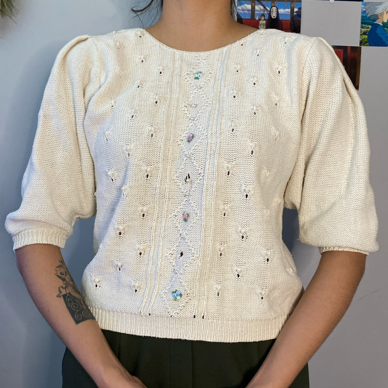 Product Image 1 - Puffy sleeve beaded Victorian top