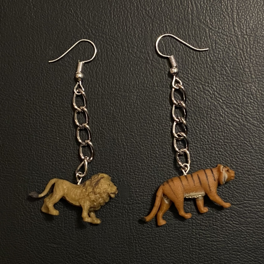 Product Image 1 - big cats earrings 🖤 tiny toy