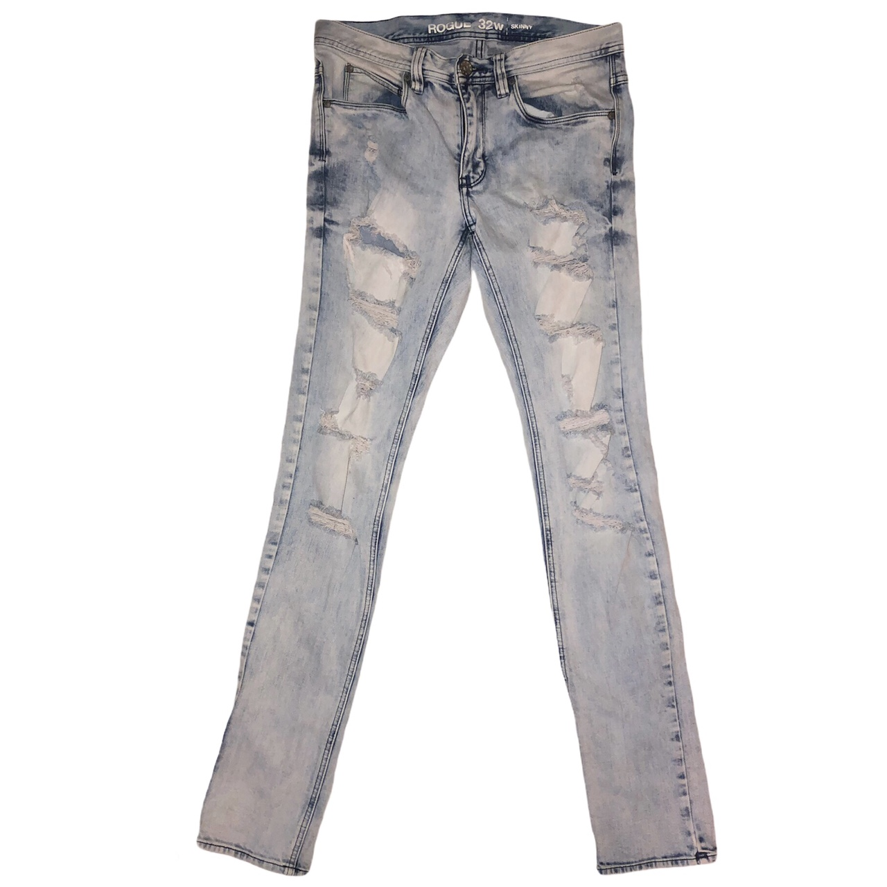 Product Image 1 - ROGUE light wash destroyed/distressed skinny