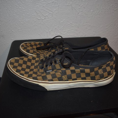 size 4 checkered vans. very good condition. like depop