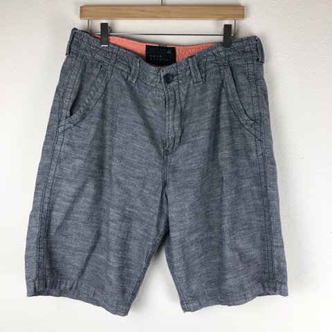 bc8c475050 Quiksilver Gray Shorts Size- 34. My approximate lay flat - Depop