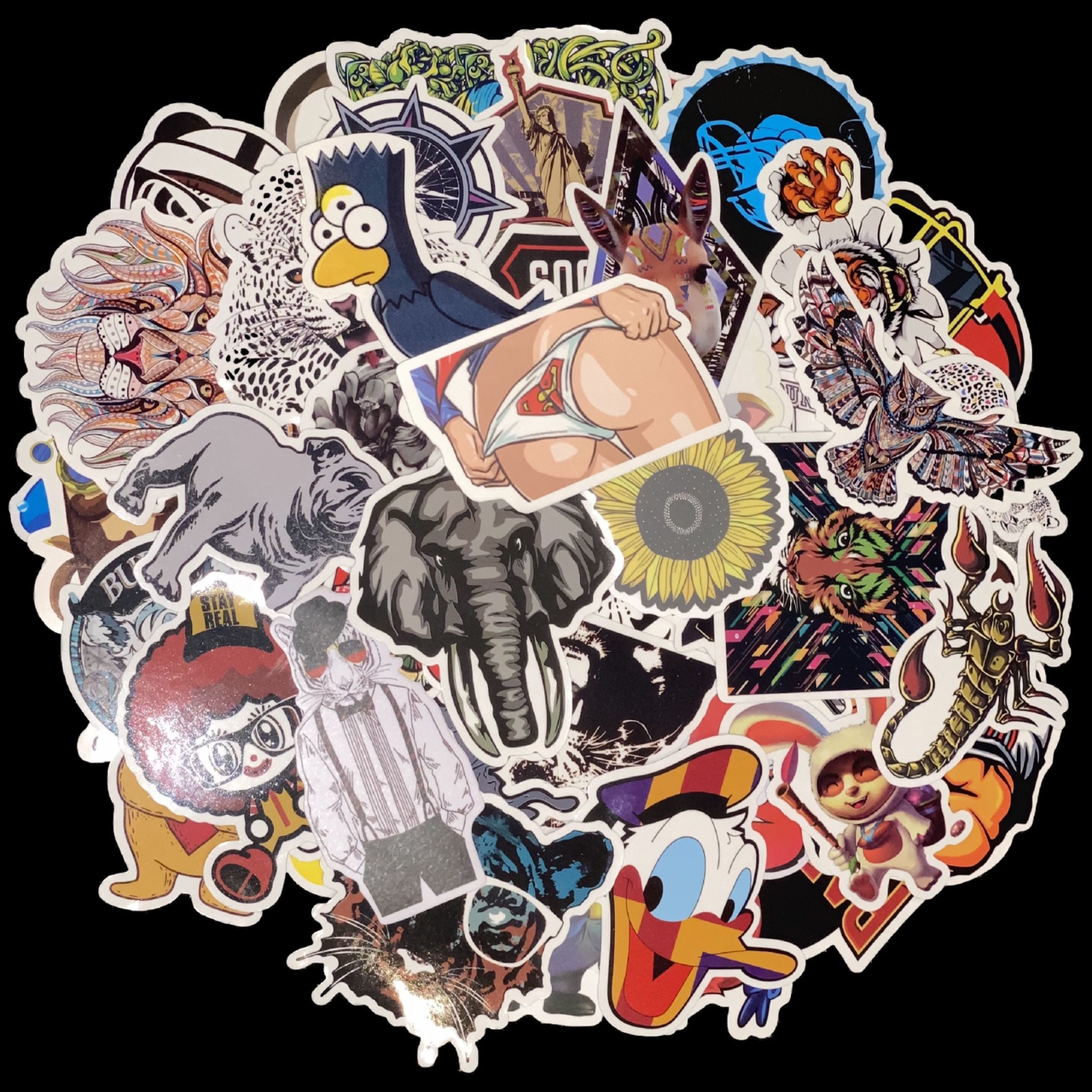 Product Image 1 - 25 Randomly Picked Colored Stickers