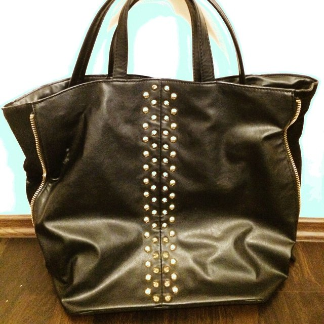 Shopper Bag Zara Zara Studded Shopper Bag