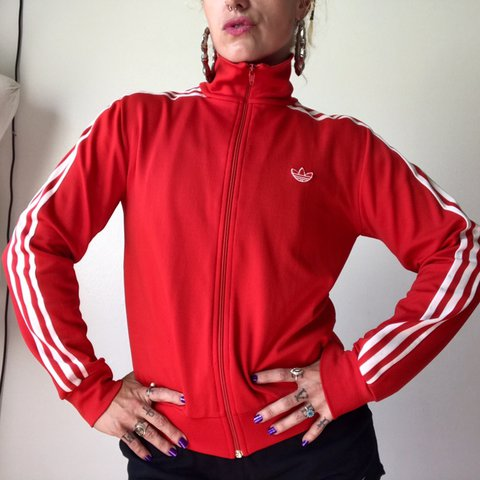 9fa020f27 ‼ This is a very vintage Adidas track jacket! By the tag I - Depop