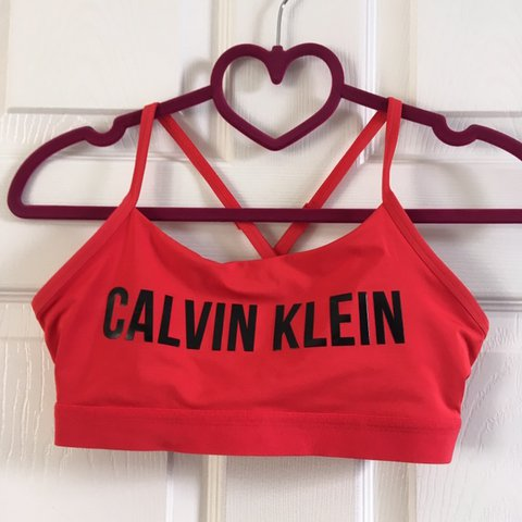 a21331d8124f @jessicaximogen. 14 days ago. Lyme Regis, United Kingdom. 🌸✨ Calvin Klein  Red Sports Bra. Never worn so brand new, except the labels been ...