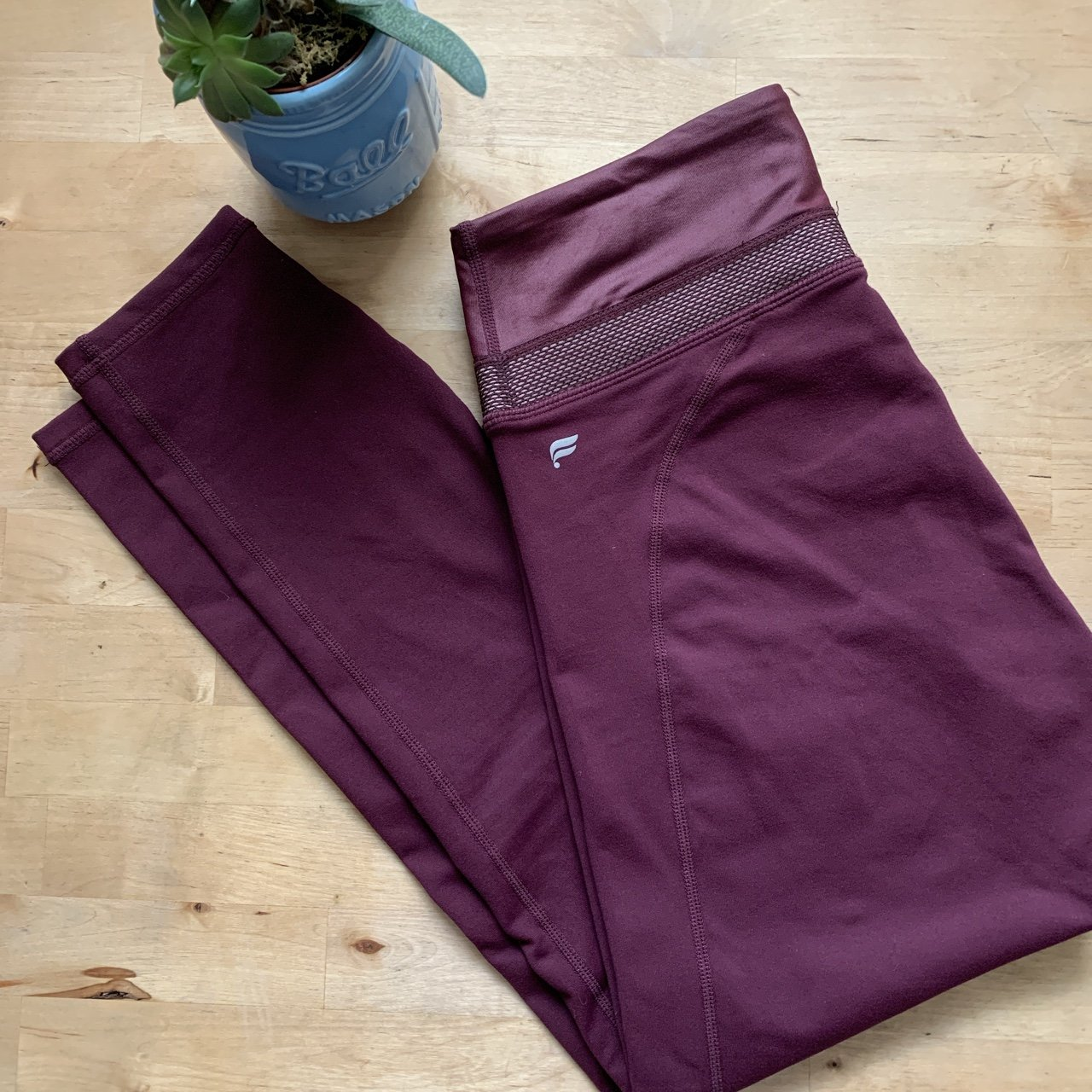 003782bed84e9 Fabletics High waisted Powerhold legging in burgundy. by the - Depop