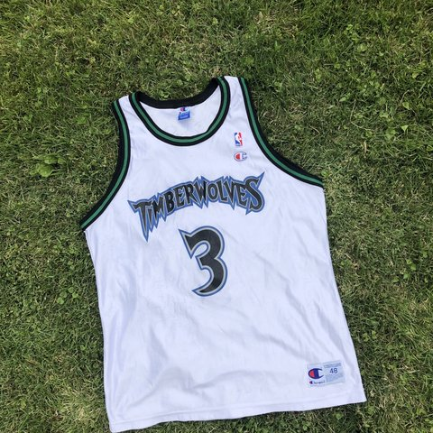 ccd488bb2a0 @christiansauer. 10 hours ago. Glenshaw, United States. Vintage Champion  Minnesota Timberwolves Stephon Marbury White Jersey ...