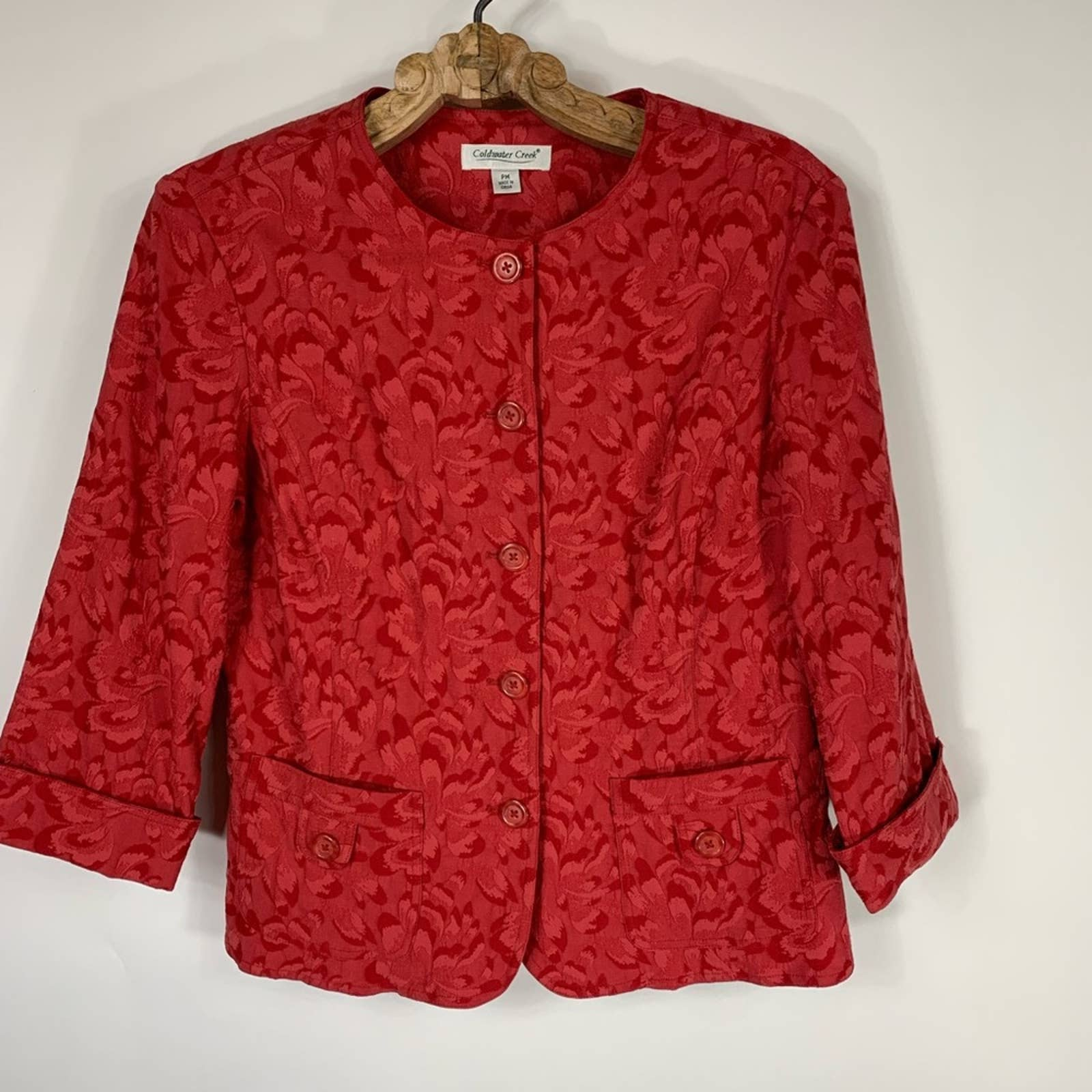Product Image 1 - Coldwater Creek Red Tapestry Jacket