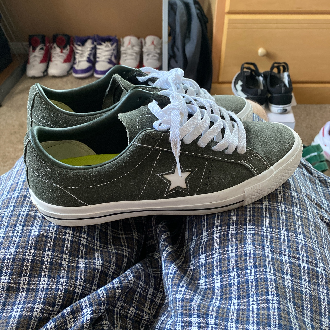 Product Image 1 - Green converse one star pro