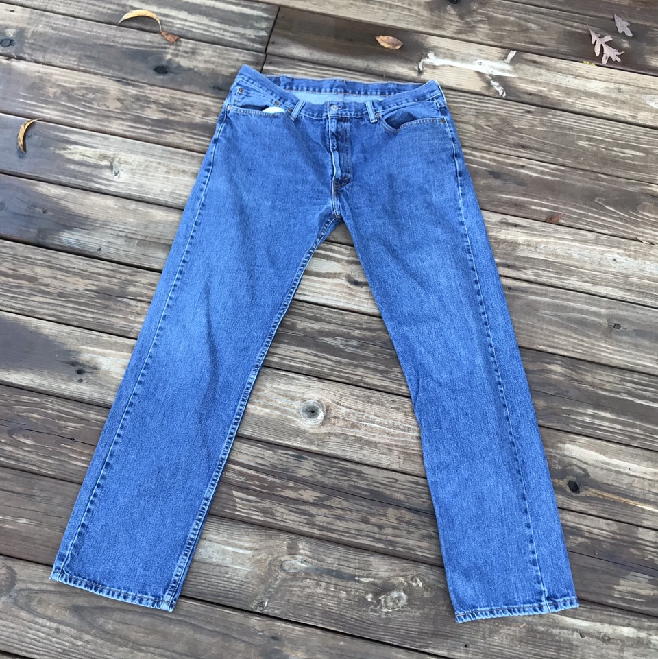 Product Image 1 - Levi's 505 Blue Jeans 38x34 Great wash