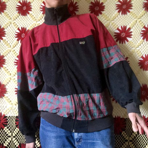 3869a66fd True vintage 90s terry cloth zip up sweater ❤ ❤ ❤ w Really ...