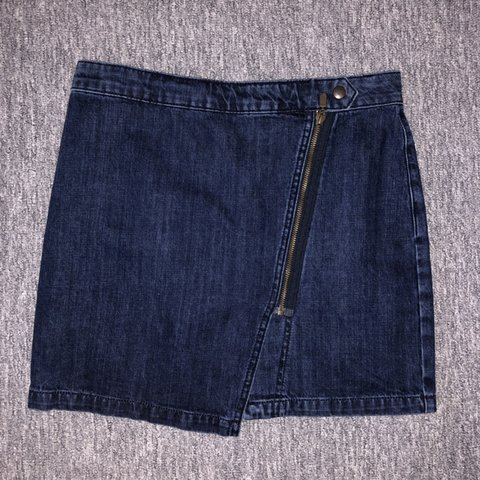 8a48b9047f Denim Skirt, Topshop Brand New W28 Dark Blue Denim skirt, - Depop