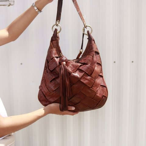 bdfacc83ff @irenetrevino. in 19 hours. Eagle Pass, United States. Cole Haan brown  leather women bag