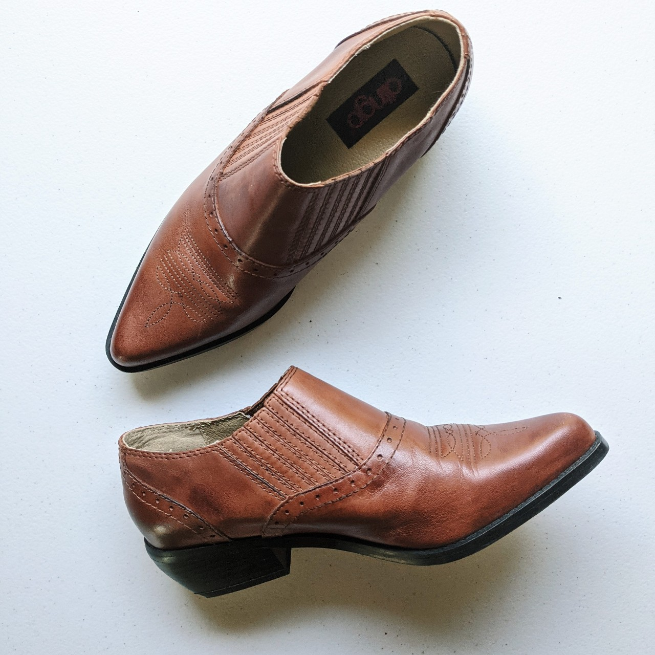 Product Image 1 - Leather boots ⚡  Brown leather booties